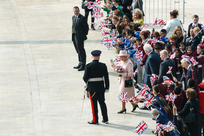 Queen Elizabeth II at MediaCity:UK