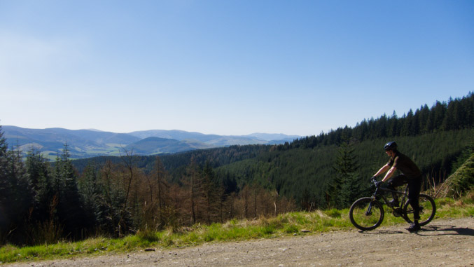 Looking out over Glentress Forest